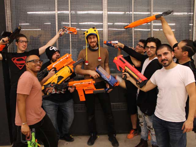 bachelor party nerf battle montreal