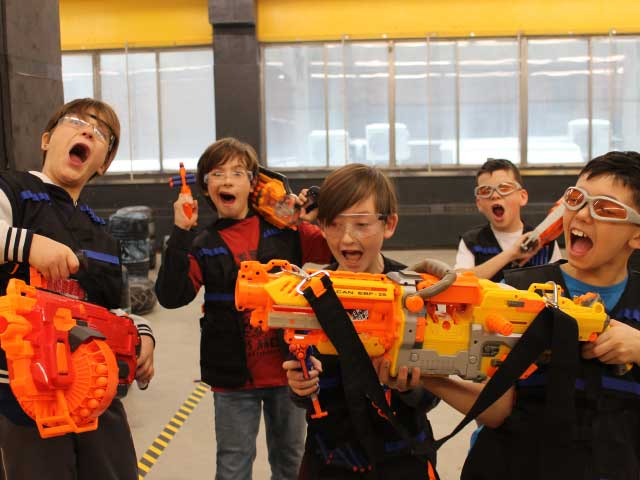 nerf battle kids birthday roar