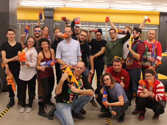 nerf combat adult party