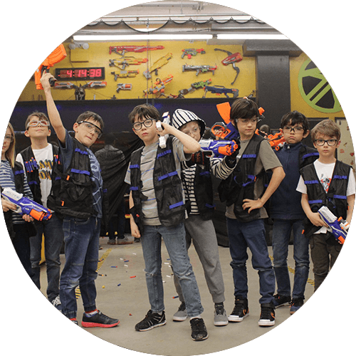 montreal birthday party event private nerf archery children