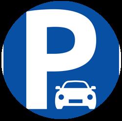 Free parking sign